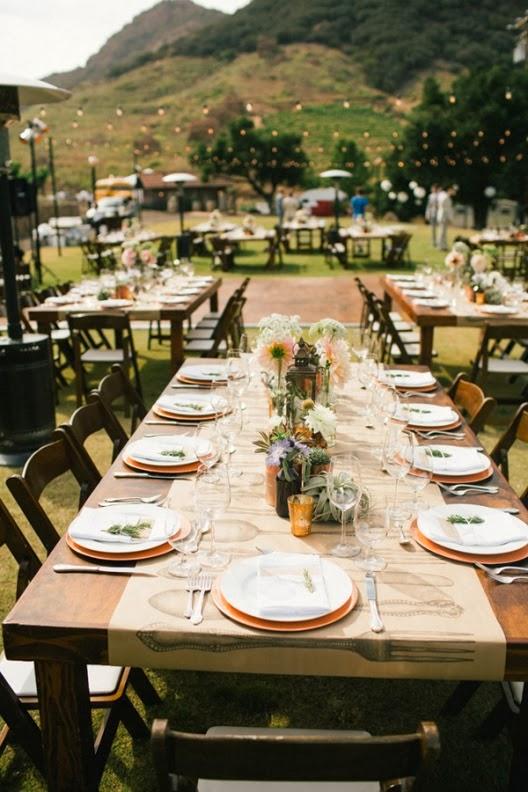 convite de boda al aire libre