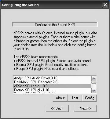 Configuring Sound epsxe