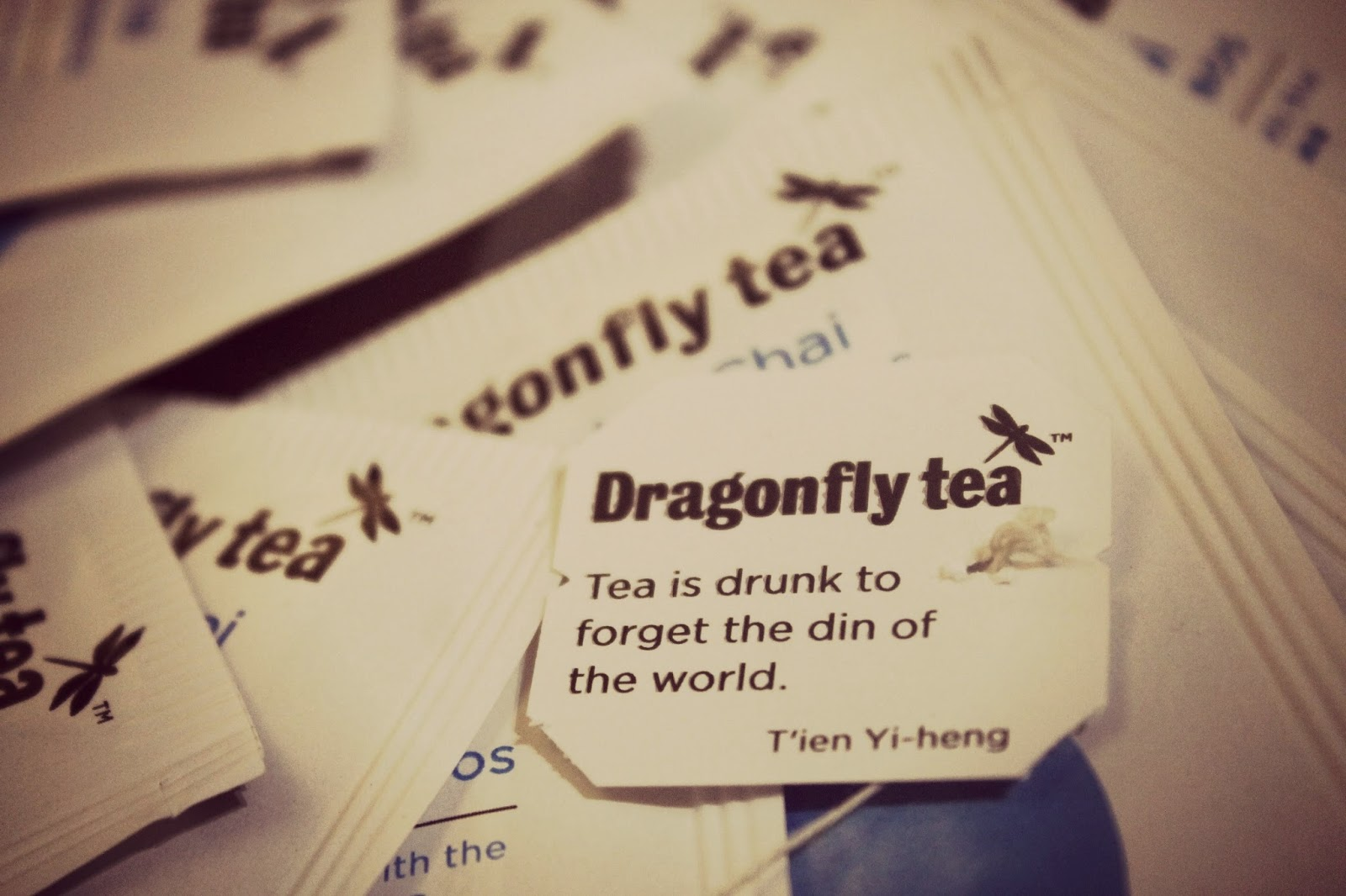 Dragonfly tea bags