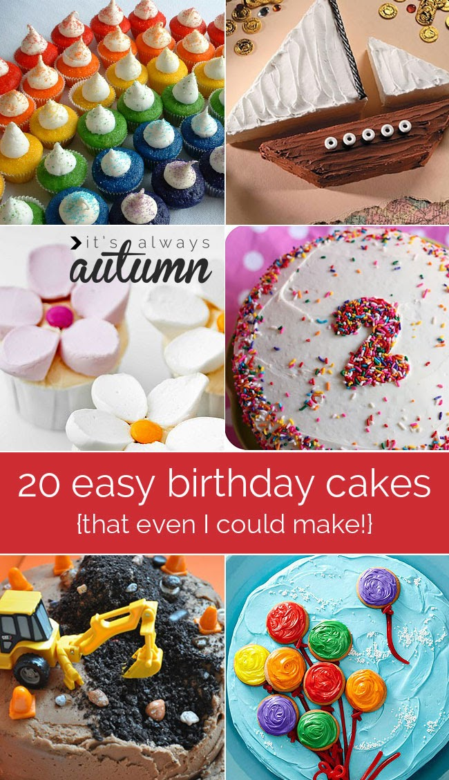 20 Easy Birthday Cakes Anyone Can Make
