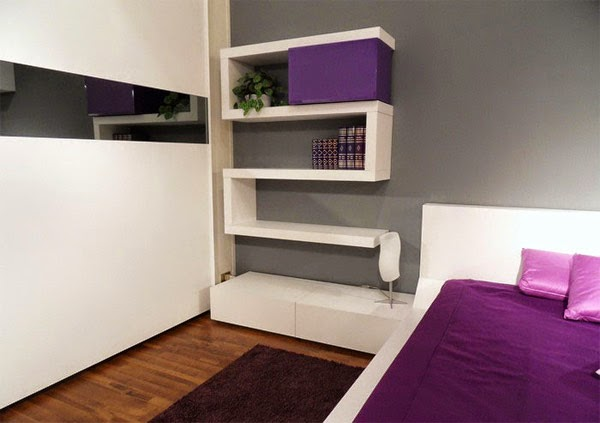 Modern Bedroom Design With Wall Rack Interior Design Magazine