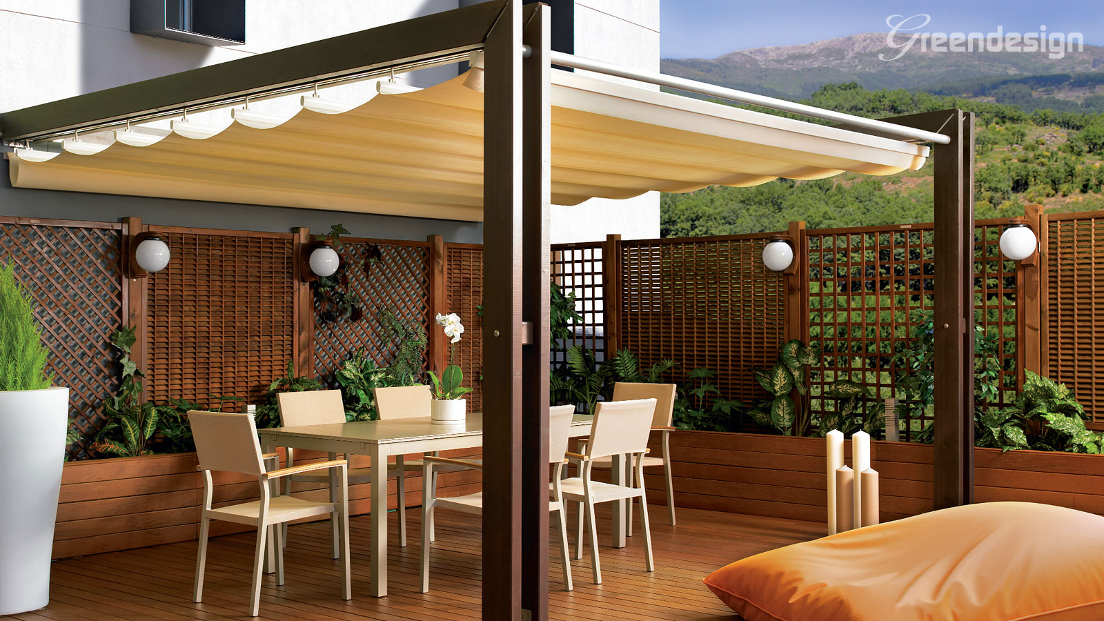 El blog de nitya y ahora la terraza - Pergola de madera ...