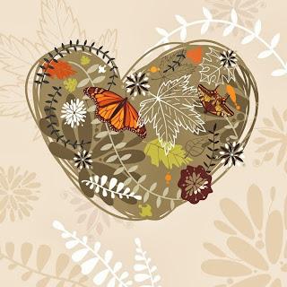 coeur feuilles automne