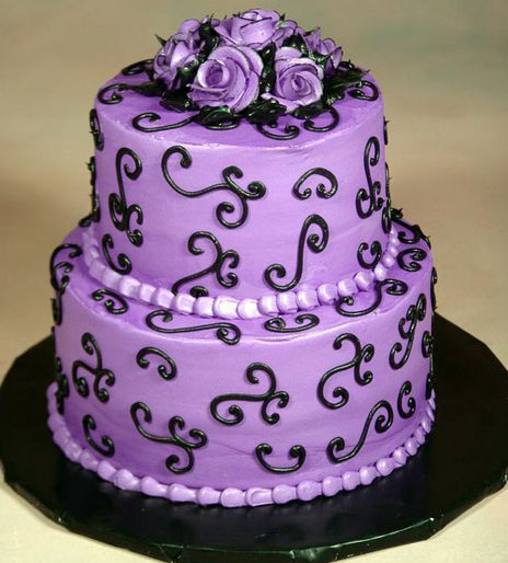 The Wedding Collections: Purple Wedding Cakes