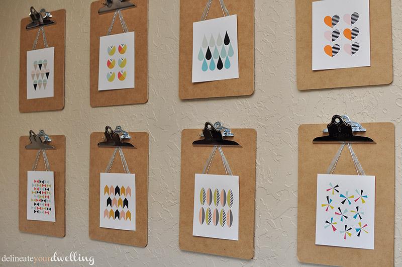 Clipboard Wall Art : Spring clipboard gallery wall