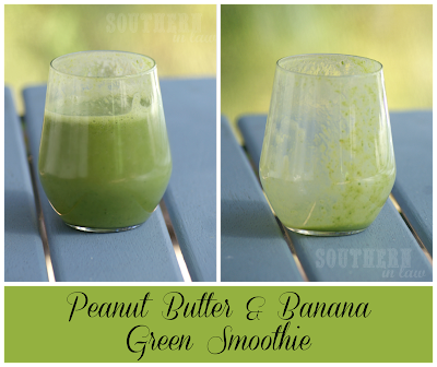 Banana and Peanut Butter Green Smoothie - Healthy, Vegan, Gluten Free, Low Fat