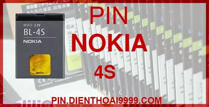 Pin Nokia BL-4S - Pin bl 4s chính hãng giá 150K - Pin bl 4s dung lượng cao 1350mAh giá 130K - Bảo hành: 6 tháng  - Pin tương thích với điện thoại Nokia 1006 / 2680s / 3600s / 3602S/ 6202c/ 6208c/ 7020/ 7100s/ 7610c/ 7610s/X3-02  Thông số kĩ thuật: - Pin dung lượng cao BL 4S được thiết kế kiểu dáng và kích thước y như pin nguyên bản theo máy, Pin tiêu chuẩn, chất lượng như pin theo máy. - Kích thước: 50 mm x 38 mm x 4.8 mm - Dung lượng: 1350 mah - Điện thế: 3.7V - Công nghệ: Pin Li-ion Battery