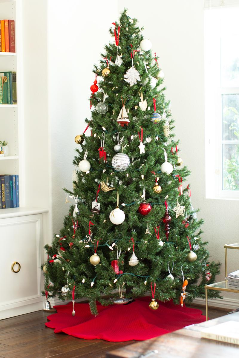 cozy christmas tree
