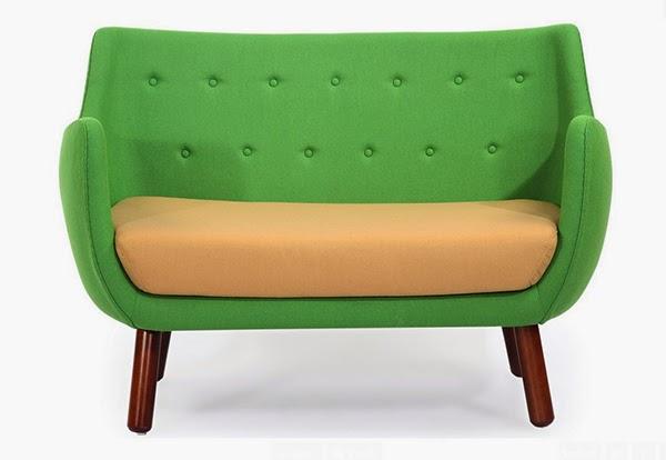 Sofa Hijau Bergaya Art Deco
