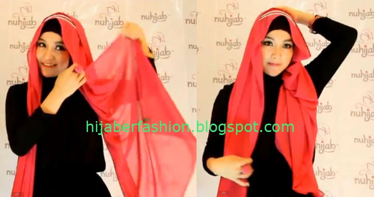 Tutorial Hijab Paris Segi Empat Terbaru 2014 By Natasha