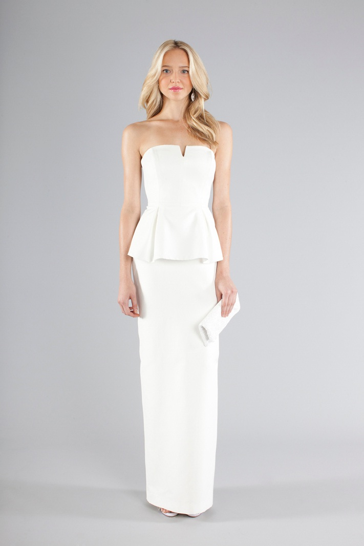Nicole miller 2013 fall bridal wedding dresses for Nicole miller strapless wedding dress