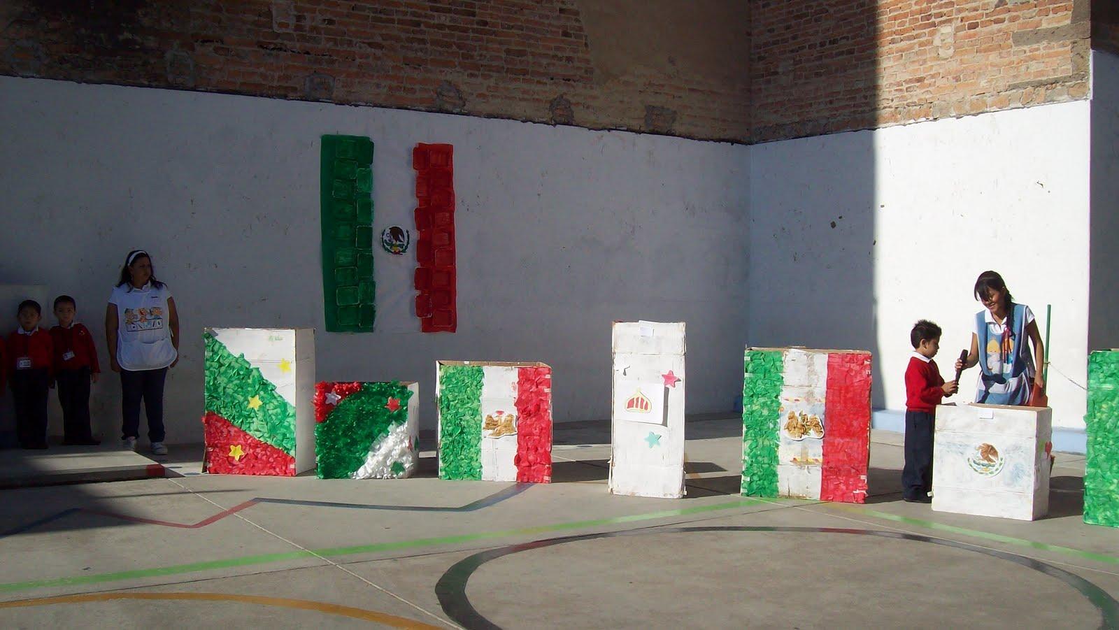 Jardin de ni os abel ayala d a de la bandera for Banderas decorativas para jardin