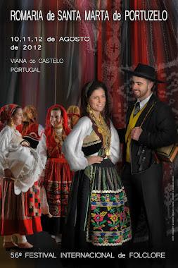 Cartaz da Romaria de Santa Marta 2012