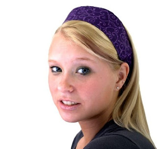 Dark Purple Background Fashion Headbands Made From Fabric