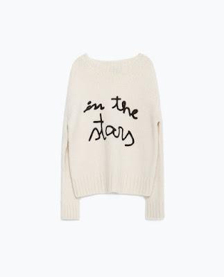 Zara Sweater With Text