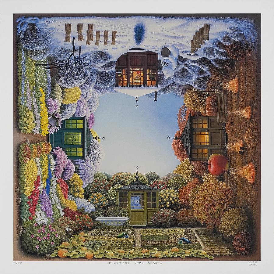Jacek Yerka Paintings For Sale