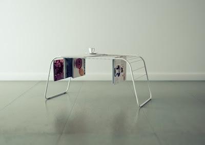 mesa de centro revistero