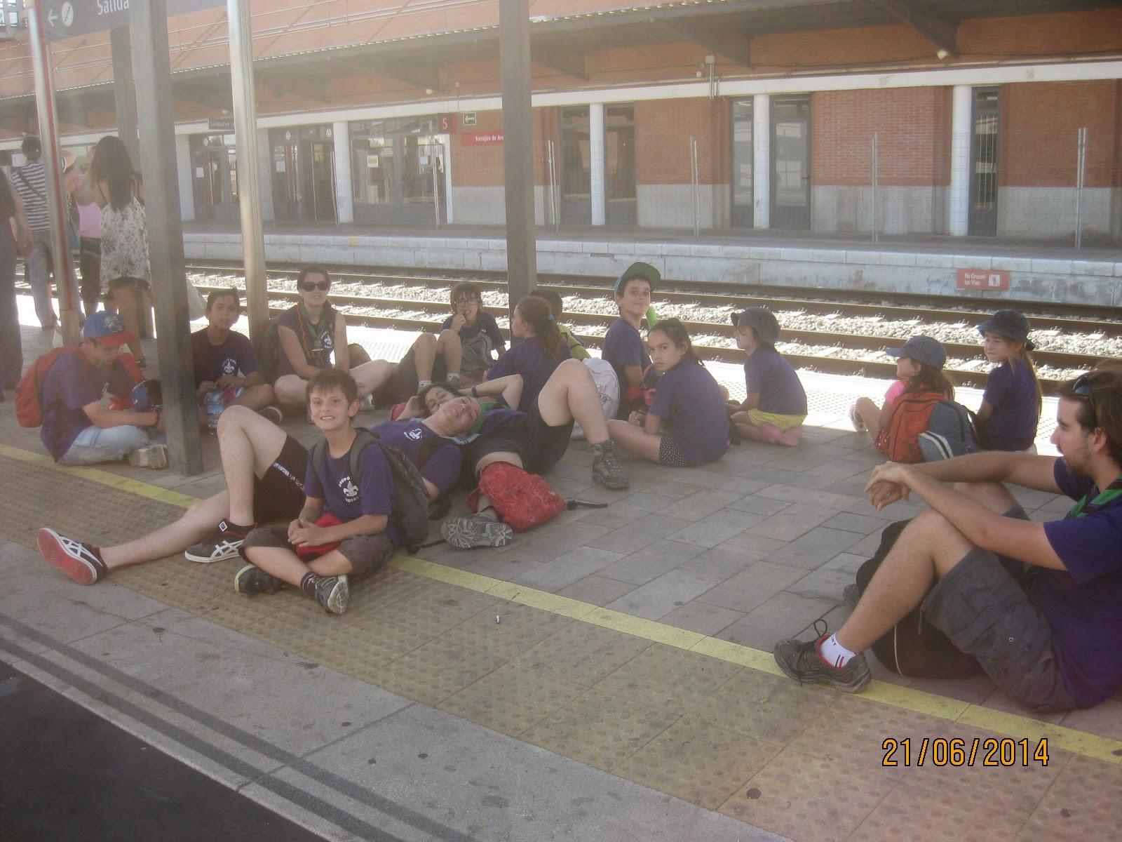 Esperando al tren!!