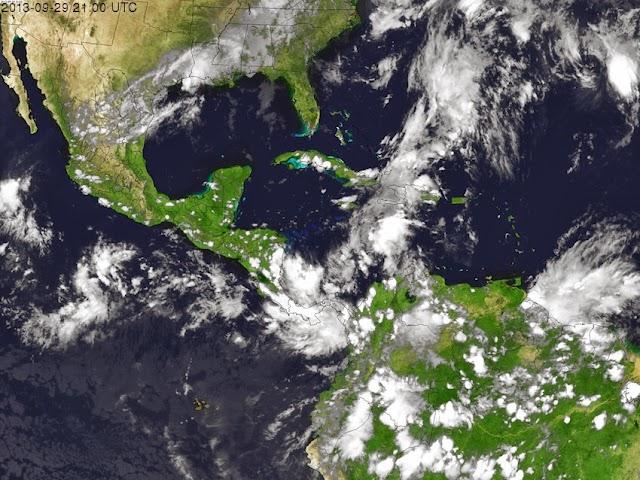 Vigila la CONAGUA zona de inestabilidad frente costas de Panamá con bajo potencial ciclónico