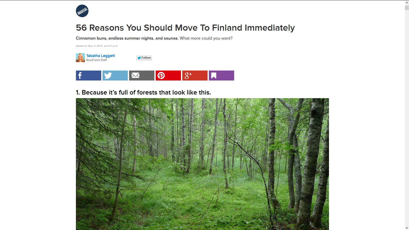 http://www.buzzfeed.com/tabathaleggett/reasons-you-should-never-leave-finland