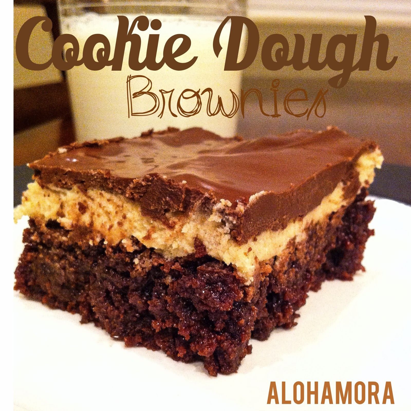 Cookie Dough Brownies- decadent, delicious, and ridiculously tasty.  Alohamora Open a book