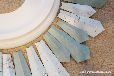 How to make a Sunburst Mirror from Setting for Four