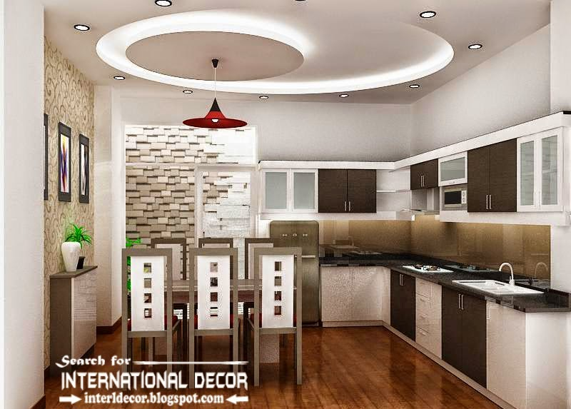 Nice Spiral POP False Ceiling Designs For Kitchen Part 8
