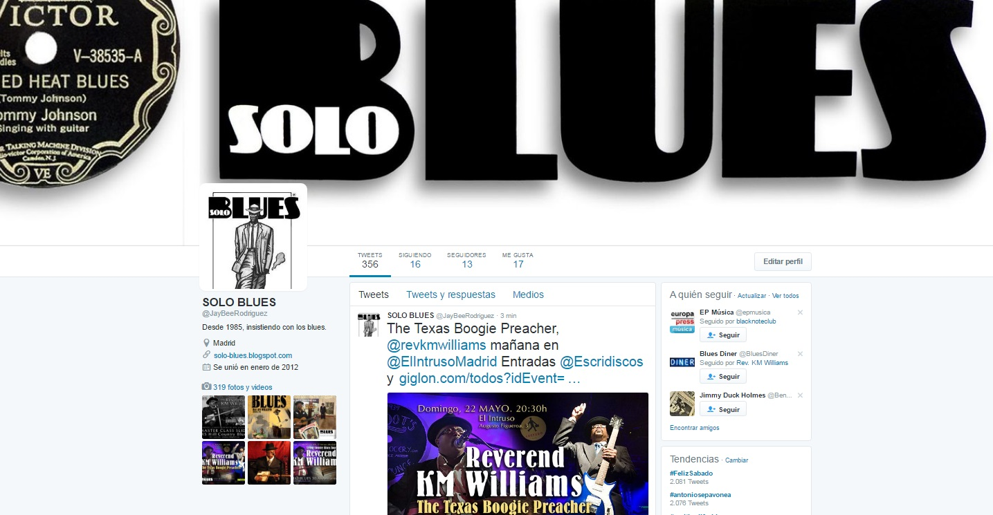 SOLO BLUES en Twitter