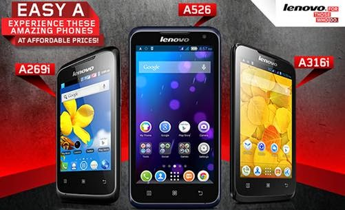 Lenovo A269i, A316i and A526, Now Made More Affordable