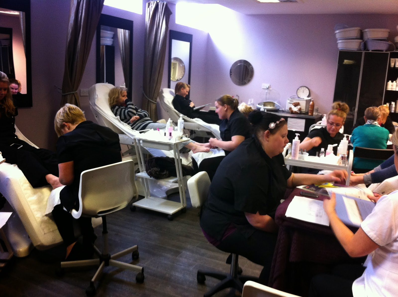 Ald hair beauty and barbering busy day at the academy for Academy beauty salon