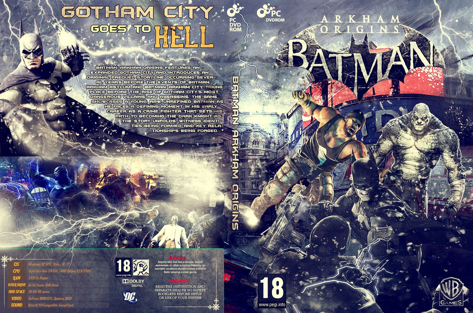 Capa Batman Arkham Origins PC