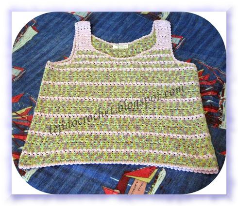 Blusa Matizada A Crochet