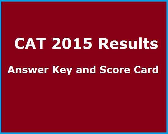 CAT 2015 Results Score card