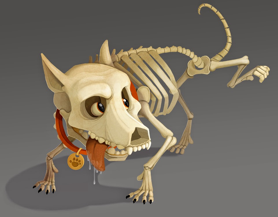 they make halloween decorations and were interested in having me design a skeleton dog lifting his legu2026and thatu0027s exactly what they got