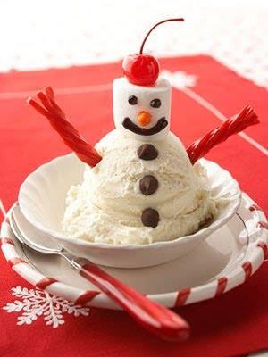 sobremesa boneco de neve