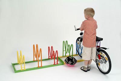 Fahrradständer Multiparker HARLEKIN als Kinderfahrradständer