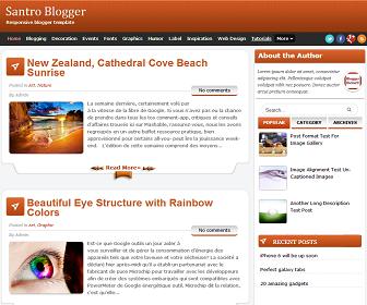 Santro Blogger Template