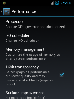Cara Setting Menu Performance Pada ROM CyanogenMod