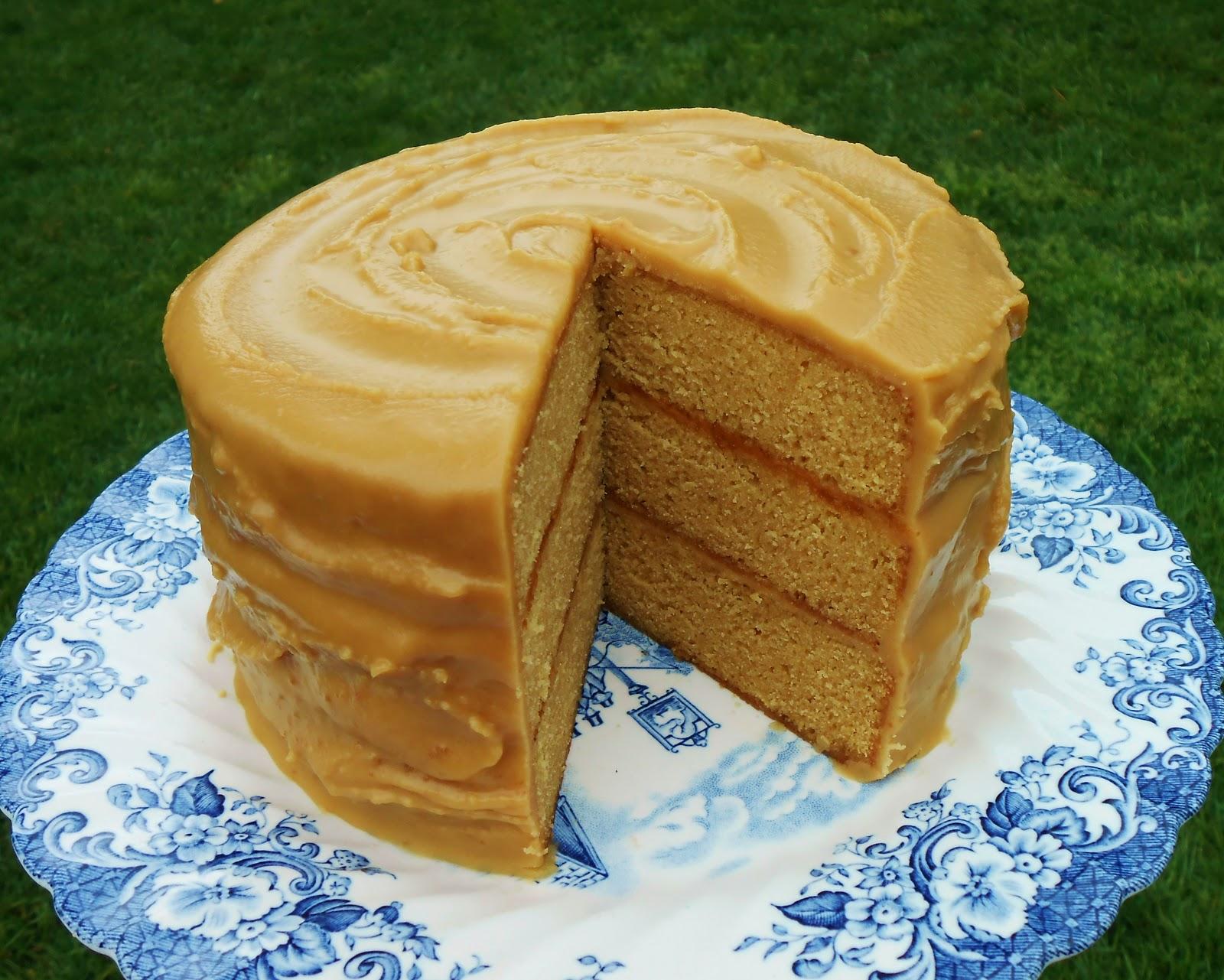 Caramel Fudge Icing Cake