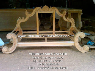 Supplier classic sofa mahogany wooden  raw sofa mahogany sofa no painted sofa no color stain finishing sofa classic jepara