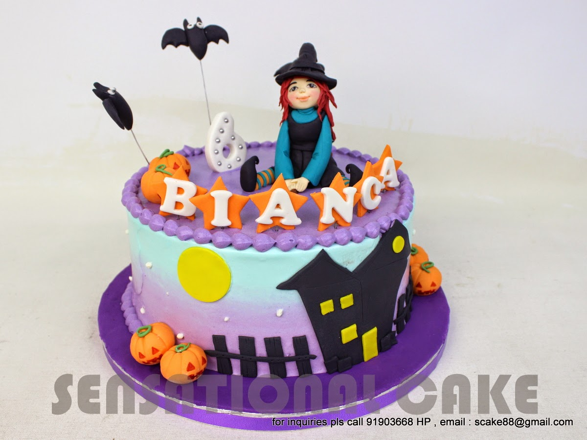 The Sensational Cakes Halloween Witch Theme 3d Cake Singapore