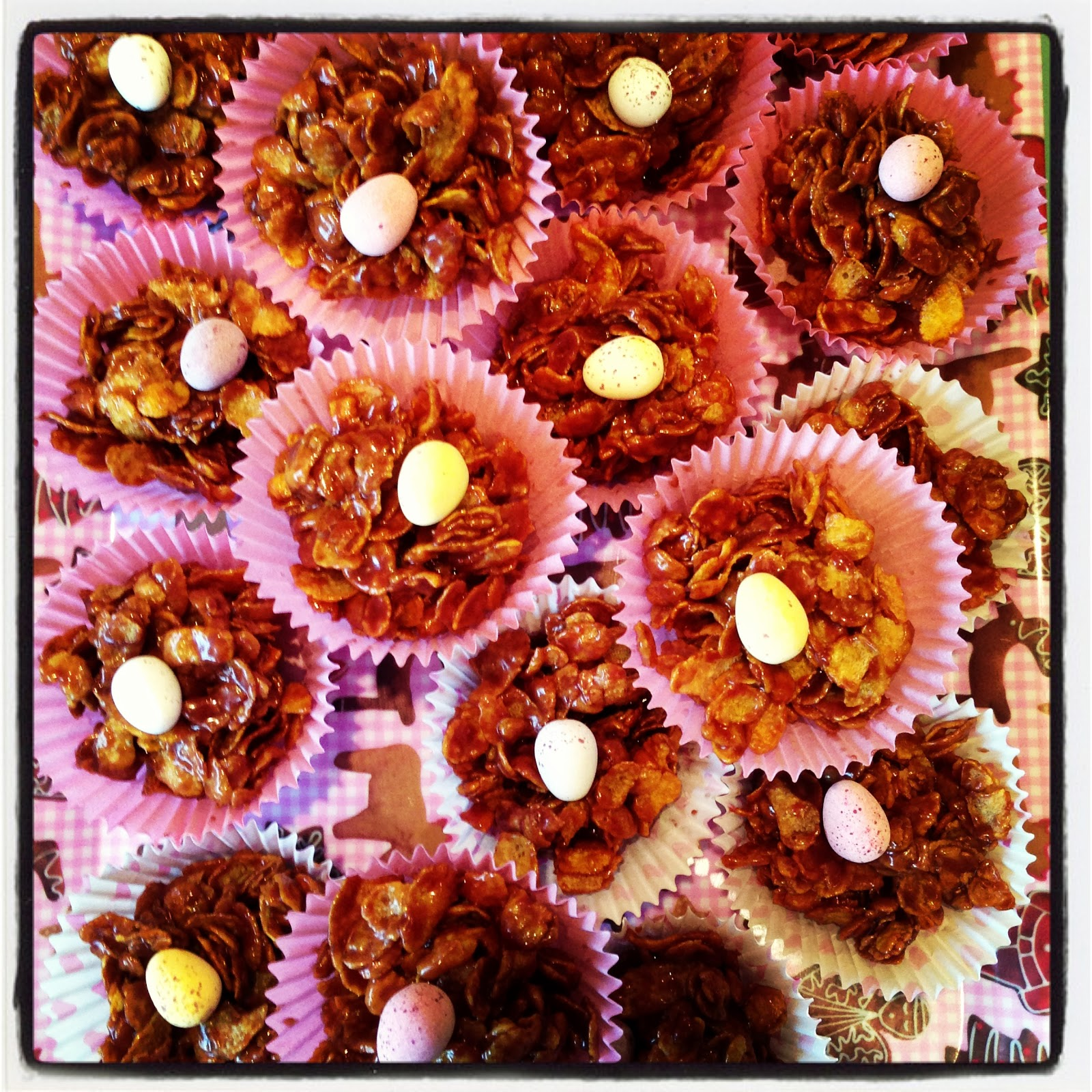 how to make easter cornflake cakes