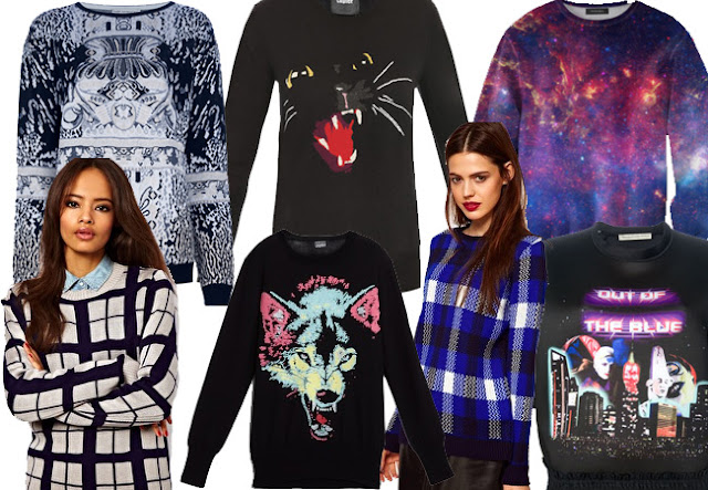 fall jumpers,statement jumpers, animal jumpers, sci fi jumpers, balenciaga jumpers, grid jumper, plaid jumper