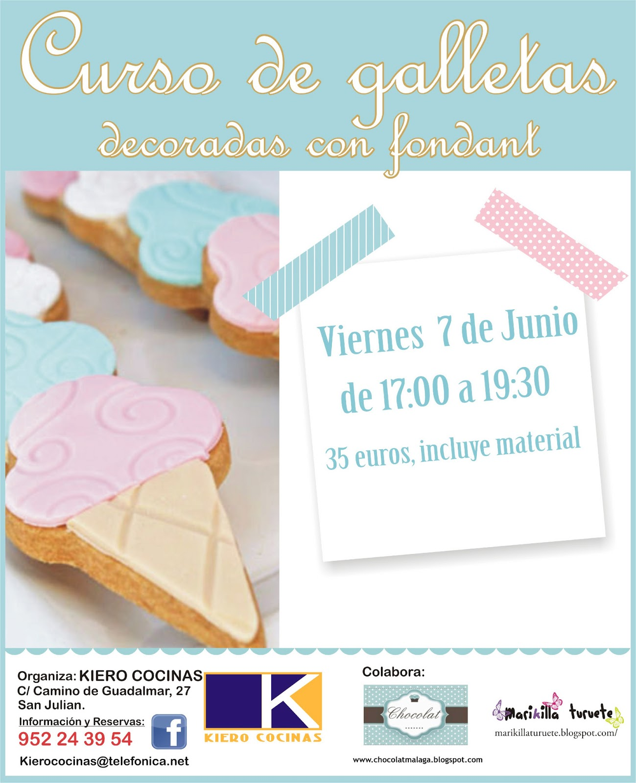 Chocolat malaga curso de galletas decoradas for Cursos de cocina en malaga