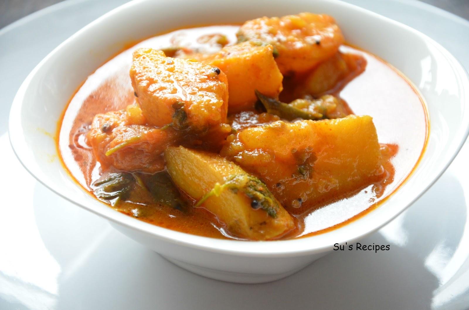 potato curry, potato gravy, simple gravy, quick gravy, aloo sabzi, aloogadde, bangaladumppa pulusu