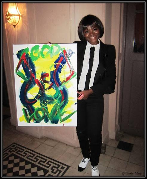 Look Janelle Monae Black and White, Tableau Janelle Monae, concert Trianon Paris