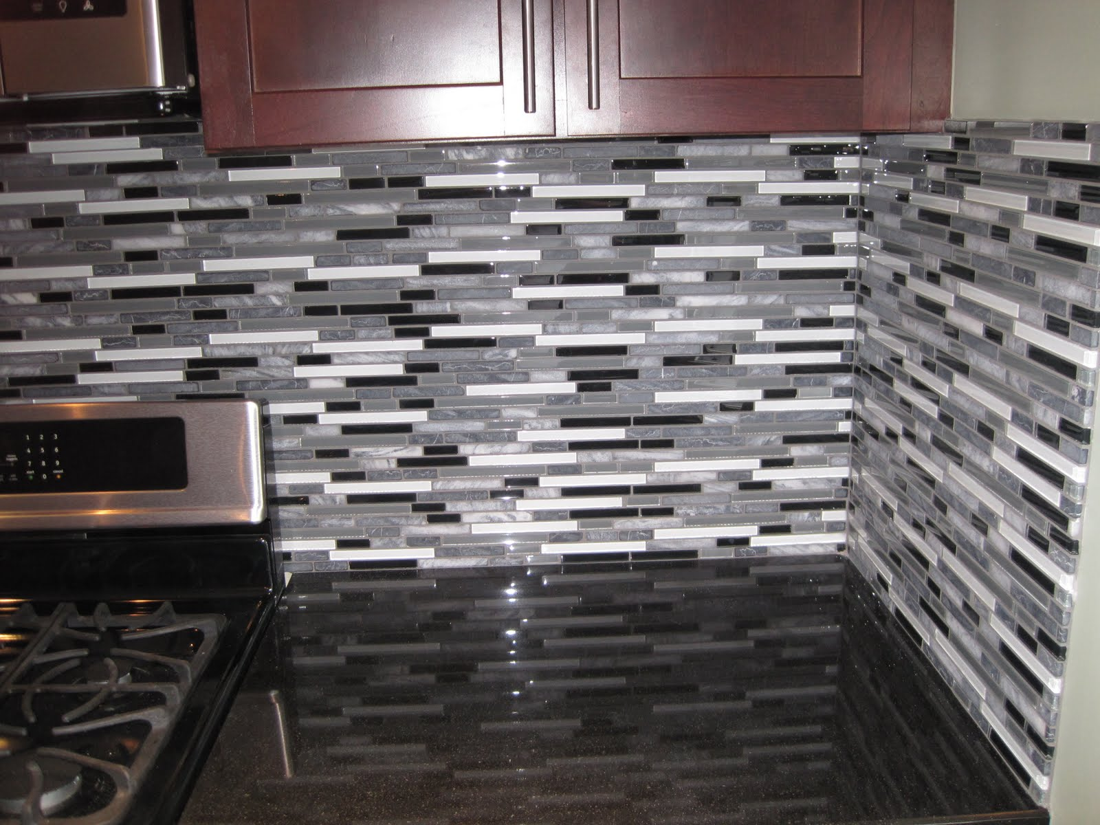 Lovely Glass Tile Backsplash Installation Yelp