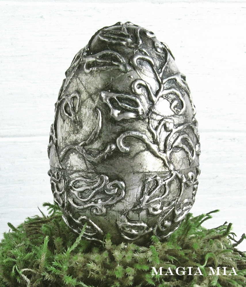 Silver Leaf Decoration Magia Mia Silver Leaf A Glue Gun And Plastic Eggs