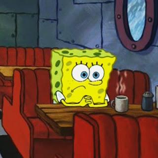 meme spongebob lagi resah polosan