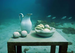 Esculturas Submarinas , the un-still life